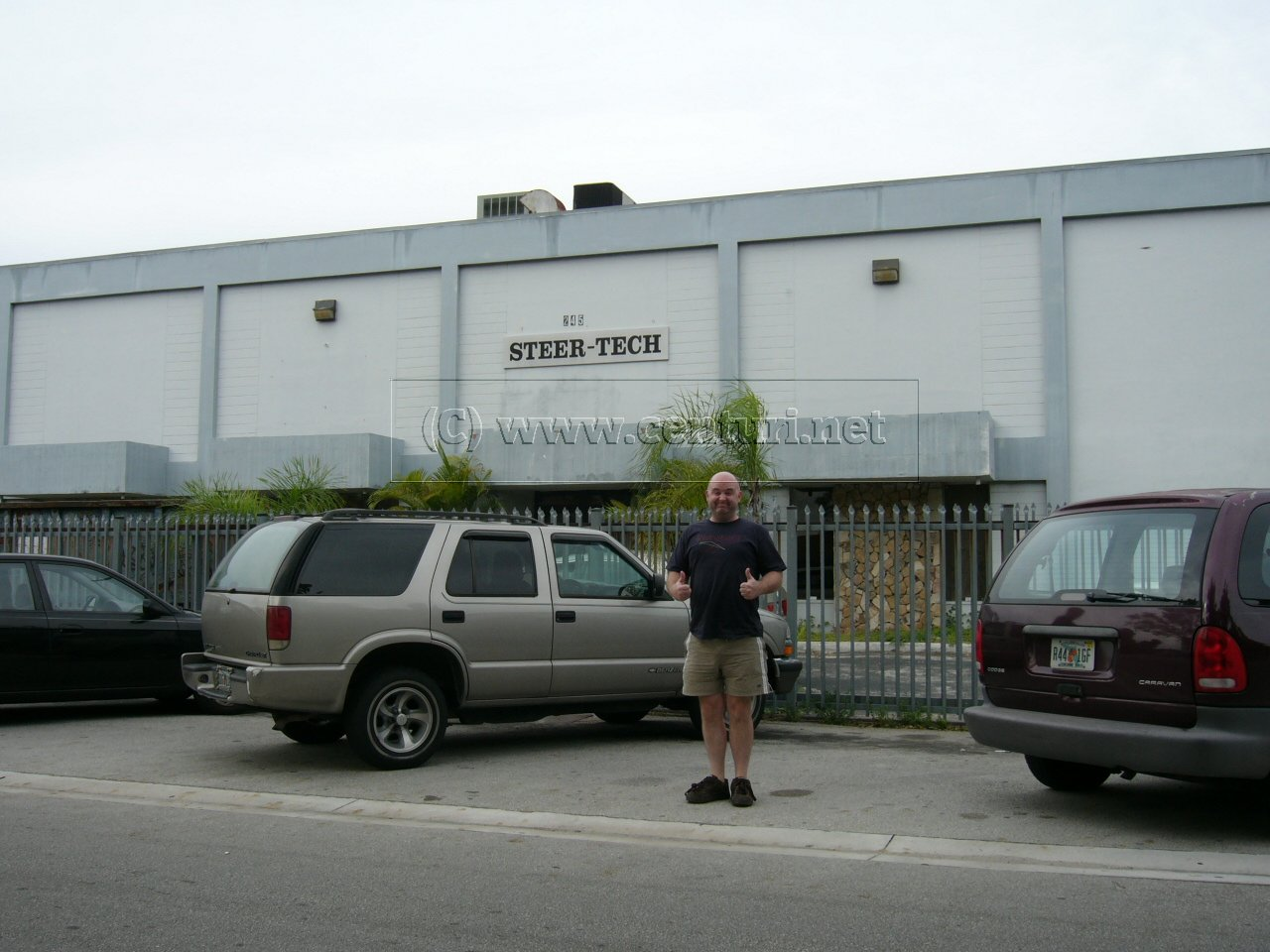 Click here to see my gormless mug outside the Centuri Factory.